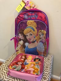 Princess Backpack and lunch bag