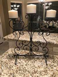 black metal framed glass-top table Austin, 78739