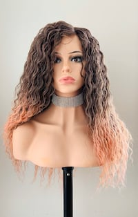 Long Wavy Rose Gold Wig for Everyday or Cosplay Calgary, T2P