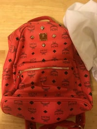 monogrammed red and black MCM backpack Rancho Cordova, 95742