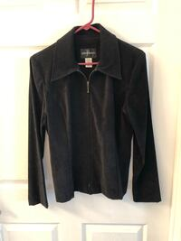 Black Zippered Blazer  Riverdale, 07457