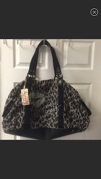 black and gray leather tote bag Westmont, 60559