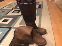 Pair of brown leather boots Montréal, H1B 3B8