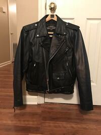 black leather zip-up jacket Youngstown, 32466