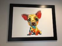 """Chihuahua canvas painting huge 43""""x55"""" this painting was $899 asking $199   Los Angeles, 90041"""