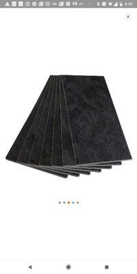Vinyl Click Flooring (1' by 2') 1,000 sqft-Black