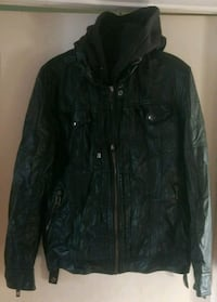 Men's parasuco leather sweater+ hoodie