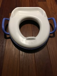 white and blue toilet bowl case