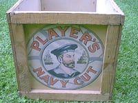 RARE 1959 PLAYERS CLUB SHIPPING CONTAINER FROM THE UK Hemet