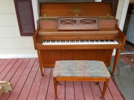 Kimball Artist Console Piano with Bench