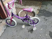 toddler's purple and pink bicycle with training wh Oakville, L6K 2A1