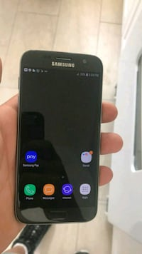 black Samsung Galaxy S7 android smartphone null