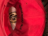 Red and black fitted cap 2262 mi