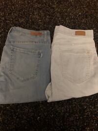 two white and gray denim bottoms Surrey, V3S 3J4