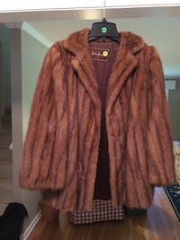 Vintage whiskey brown mink jacket, professionally cleaned, size s - m.