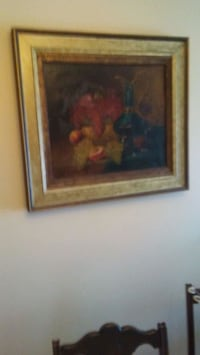 Old french painting-fruits on plate Mississauga, L4W 3M9