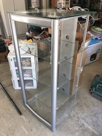 gray metal framed glass display cabinet Murrieta, 92563
