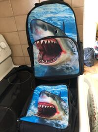 Used shark backpack with lunch box  Ottawa, K2H 8P6