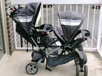 baby's black and gray tandem stroller Aspen Hill, 20906