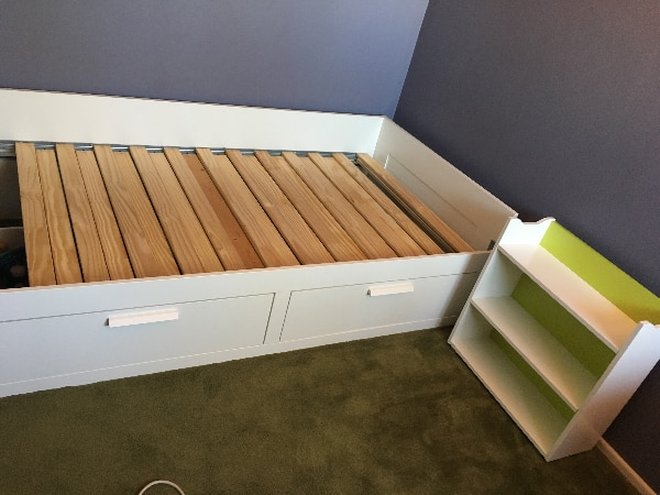 sports shoes 89a4f 8fee2 IKEA Brimnes Twin Daybed, Flaxa Twin Headboard, and Billy Bookcase  (Clairemont Mesa)