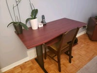 rectangular brown wooden table with four chairs di Kirkland, H9J 3W7