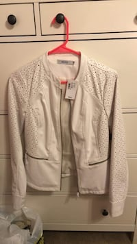 White Leather Jacket - Size Small Whitby, L1M 1C9