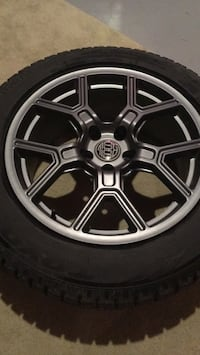 225/60R18 winter tires with rims 564 km