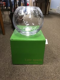 Clear kate spade fish bowl with green box