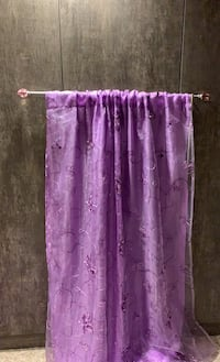 Purple butterfly curtains and rod Vaughan, L6A 3T9
