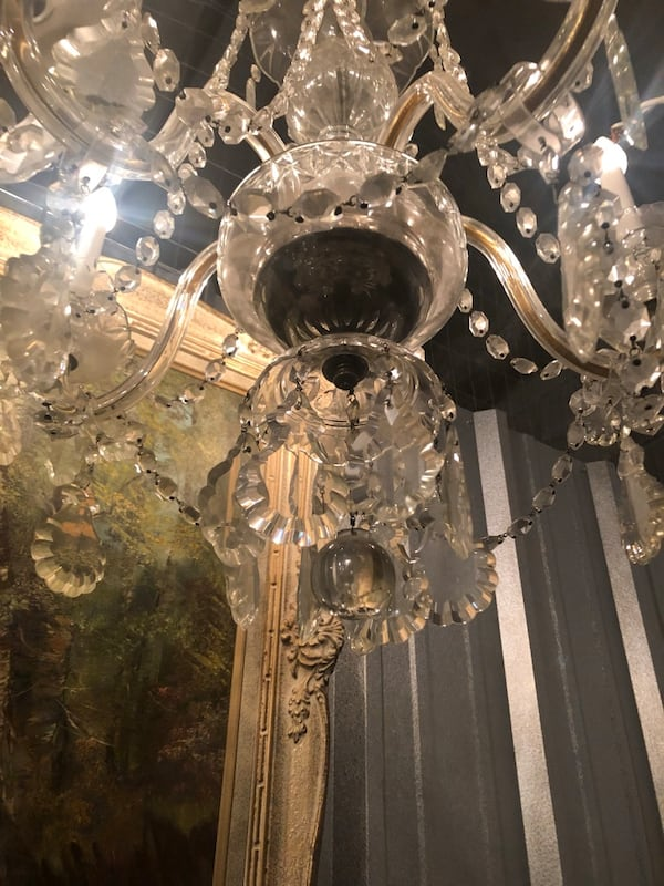 Antique bohemian chandelier with crystals 2a258115-d44f-412b-a151-a778ad4f8741