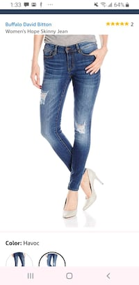 Buffalo hope distressed skinny jeans $75 NEW! Brampton, L6Y
