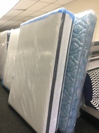 white and blue floral mattress Baltimore, 21231