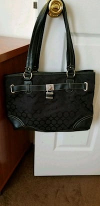 black and gray Coach leather tote bag Centreville, 20121