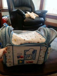 Snoopy large diaper bag brand new