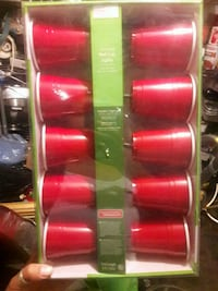 New Red cup string lights 4 sets