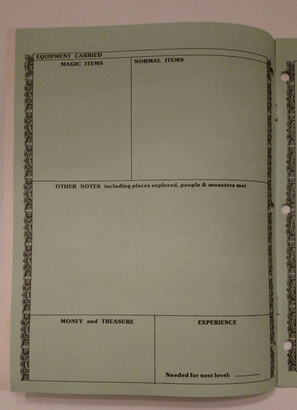 1981, D&D Player Character Record Sheets 1c45e4ce-f9d7-4db2-a636-3be4d7f1aa65