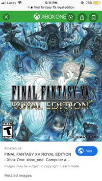 Final Fantasy XV Royal Edition Xbox One Brampton