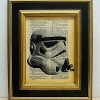 Starwars print on old dictionary pages