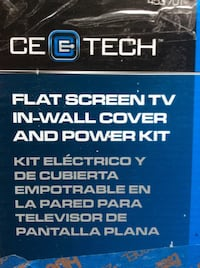 Ce tech flat screen tv in-wall cover and power kit