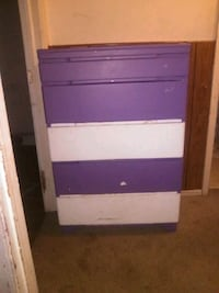 brown and purple wooden 3-drawer chest Anderson, 46012