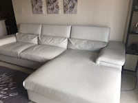 White leather 2-seat sofa Fairfax, 22030