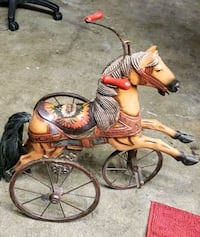 Vintage Tricycle Horse Hand Carved & Painted San Leandro, 94577