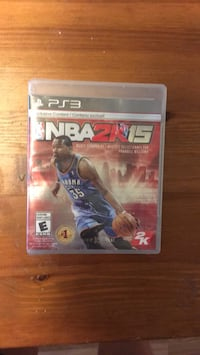 NBA 2K15 PS3 game case Cambridge, N1S 3C4