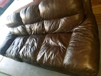 brown leather 3-seat sofa Las Vegas, 89108