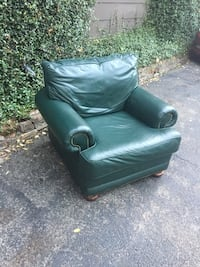 Comfortable leather chair with ottoman Dallas, 75204