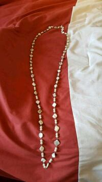 silver and white beaded necklace Red Deer, T4R 2J4