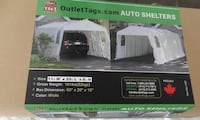 black and white Coleman camping tent box TORONTO