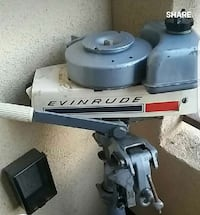 white-and-gray evinrude outboard motor Santee, 92071