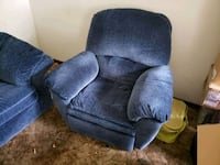 Blue sofa and recliner Longview, 98632