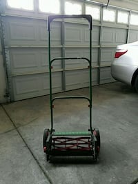 Available: black and red reel mower